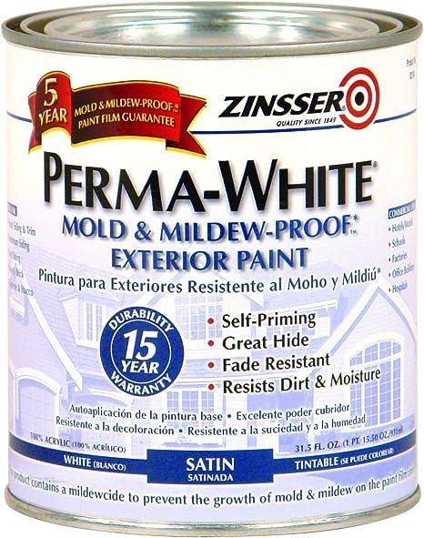 Zinsser Quart Satin Gloss Perma-White