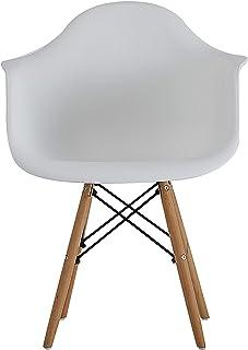 Elegante, hermosa, económica, sólida, estable y cómoda sillas para dormitorio/cocina/comedor/oficina/sala de estudio, un conjunto de (blanco, 4)