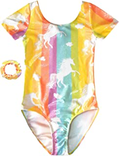Jxstar Gymnastics Leotards for Girls Kid Unicorn Outfits Sparkly Activewear Quick Dry
