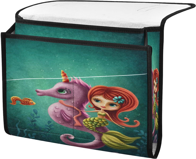 Reservation Bedside Storage Organizer Ocean Mermaid Beside Popular shop is the lowest price challenge Caddy Seahorse