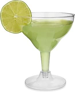 Desechables copas de Margarita 7 oz/200ml–juego de 12–plástico transparente–Juego de vasos de cóctel