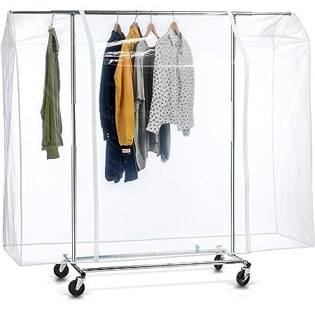 Tafkraft BIG Grande Housse de Protection pour Portant à Vêtements 165x183x60 cm, Plastique Waterproof Transparent, Ouverture et Fermeture Faciles, Portant Non Inclus