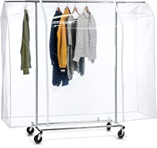 Tafkraft BIG Grande Housse de Protection pour Portant à Vêtements 165x183x60 cm – Plastique Waterproof Transparent – Ouver...