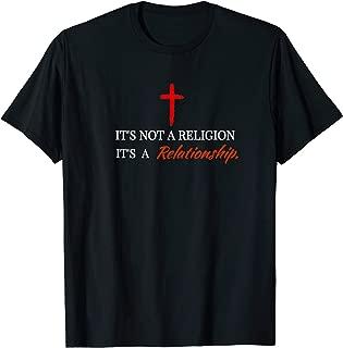 It's Not a Religion Christian T Shirt Men Women Children