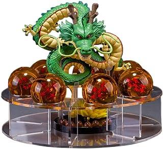 Mysika Acrylic Dragon Ball Set Shenron Action Figure Statue with 7pcs 3.5cm Balls and Stand