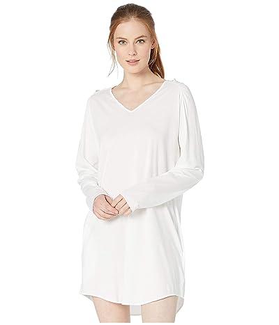 Skin Pima Cotton Eva Sleep Shirt (White) Women