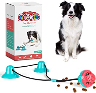 CPFK Dog Chew Double Suction Cup Tug of War Toy Pet Aggressive Chewers Rope Puzzle Toothbrush Multifunction Molar Bite Int...