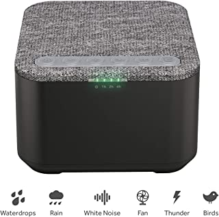 White Noise Machine, X-Sense Sleep Sound Machine with 40 Non-Looping Soothing Sounds and Memory Function, High Quality Speaker with 30 Levels of Volume and 7 Timer Settings for Home