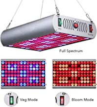 Full Spectrum Panel Grow Light mit Bloom und Veg Switch f/ür professionelle Zimmerpflanzen Wei/ß 1000 Watt Z0422 LED Grow Lights