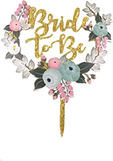 Bride to Be Cake Topper, ICASA, Bridal Shower,Wedding,Bachelorette Party Cake Topper Cake Stand for Party Decoration
