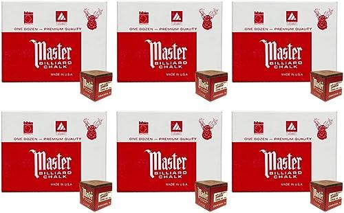 Masters marron Billiard Cue Chalk - 6 dozen by Tweeten Fibre Co