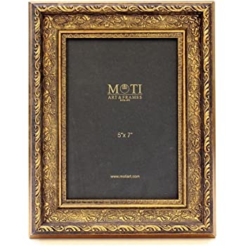 MOTI ART Antique Gold Finish Frame, Size 5 x 7 inch