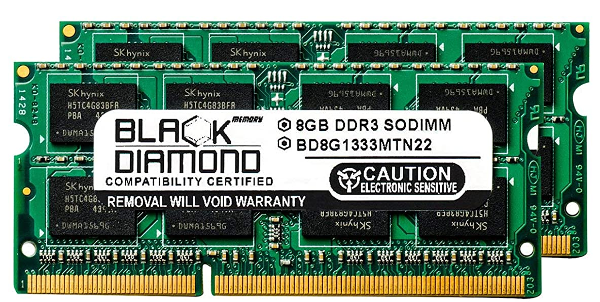 宝拒否ヒューム16GB 2X8GB Memory RAM for HP Pavilion Notebooks Notebook g6-2071se DDR3 SO-DIMM 204pin PC3-10600 1333MHz Black Diamond Memory Module Upgrade