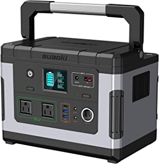 SUAOKI Solar Generators, G500 Portable Power Station 500Wh Camping Generator Lithium Battery Pack Power Supply with 110V/300W (600W Peak) Pure Sine Wave AC Inverter for CPAP Emergency Outdoor