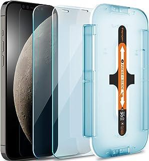 Spigen Tempered Glass Screen Protector [Glas.tR EZ FIT] Designed for iPhone 12 Pro/iPhone 12 - Sensor Protection / 2 Pack