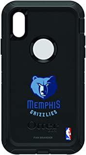 Fan Brander NBA Black Phone case, Compatible with Apple iPhone XR with OtterBox Defender Series