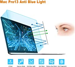 FORITO 2-Pack Compatible MacBook Pro 13 Inch Screen Protector -Blue Light Filter, Eye Protection Blue Light Blocking Anti Glare Screen Protector for Apple MacBook Pro 13 Model A1706 A1708 A1989 A2159