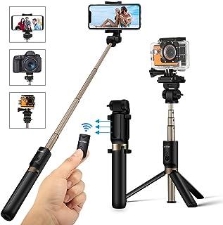 Palo Selfie Trípode con Control Remoto para Cámara Gopro iPhone 8 7 7plus 6s 6 Android Samsung de 3.5-6 Pulgadas - BlitzWolf 4 en 1 Monópode Extensible Selfie Stick Bolsillo Inalámbrico 360° Rotación