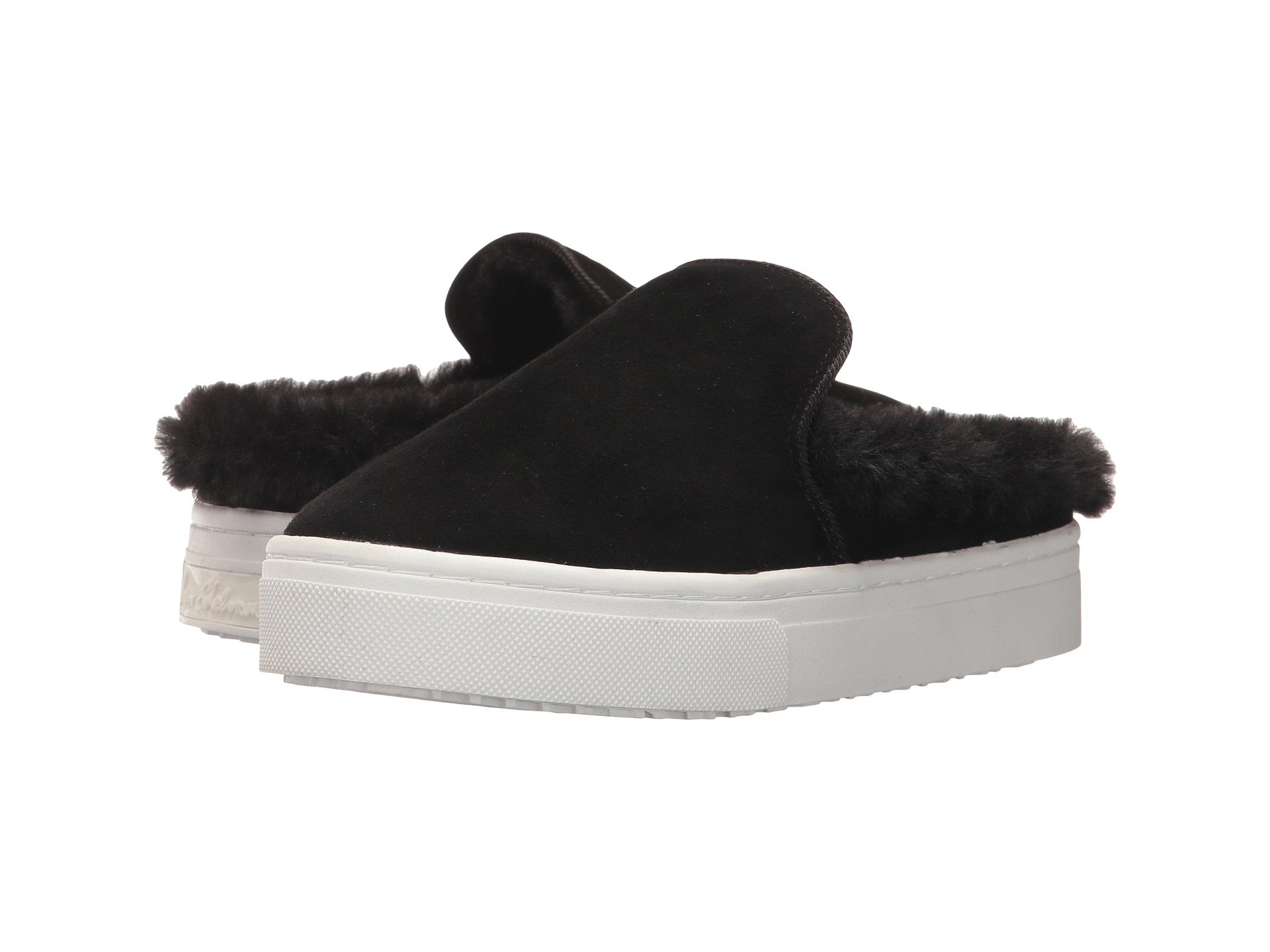 Levonne, Black Kid Suede Leather/Faux Fur, Black Suede