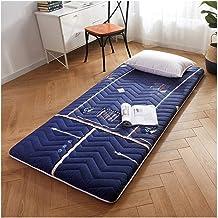 Tatami Floor Mat,Student Dormitory Mattress, Foldable Non-Slip Mattress, Single/Double Mattress,Blue