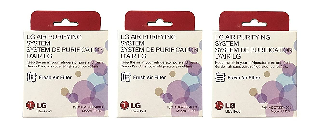 Enterpark Only Authorized Replacement Fresh Air Filter made for LG Refrigerators, LT120F (3 pack)