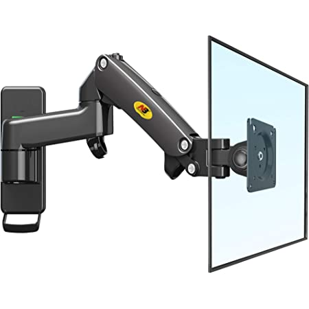 "NB North Bayou TV Monitor Wall Mount Bracket Full Motion Articulating Swivel for 17-27"" Monitors (Load Capacity from 4.4 to 15.4lbs) Double Extension F150-B"