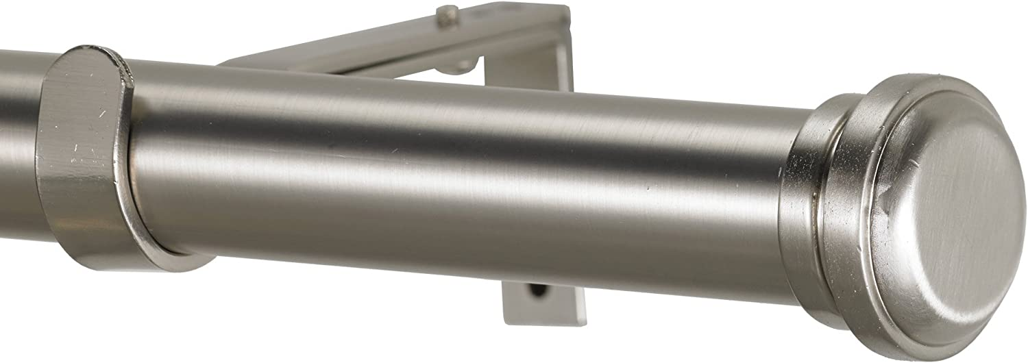 Art Décor sold out OFFicial shop Empire Non-Telescoping Curtain Rod Stainless 6-Feet