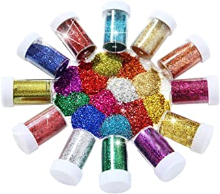 Joyclub Arts and Crafts Glitter Shaker Jars, Glitter Powder for Slime, Scrap-Booking, Body, Face, Party Invitations, Chris...