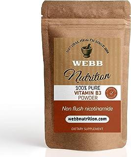 La vitamina B3 en polvo - (Nicotinamida) no empotrable - poderoso antioxidante Sin aditivos químicos (50 g)