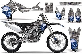 2010-2013 Yamaha YZF 450 AMRRACING ATV Graphics Decal Kit-Checkered Skull-Blue