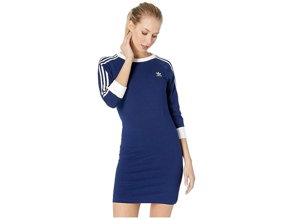 Image of adidas Originals 3-Stripes Dress (Dark Blue) Women's Dress