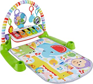 Fisher-Price Deluxe Kick 'n Play Piano Gym, verde, género neutro (embalaje sin frustraciones)