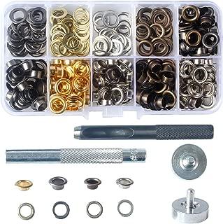 200 Sets 4 Color Metal Grommet Eyelets Kit Tool 6mm 1/4