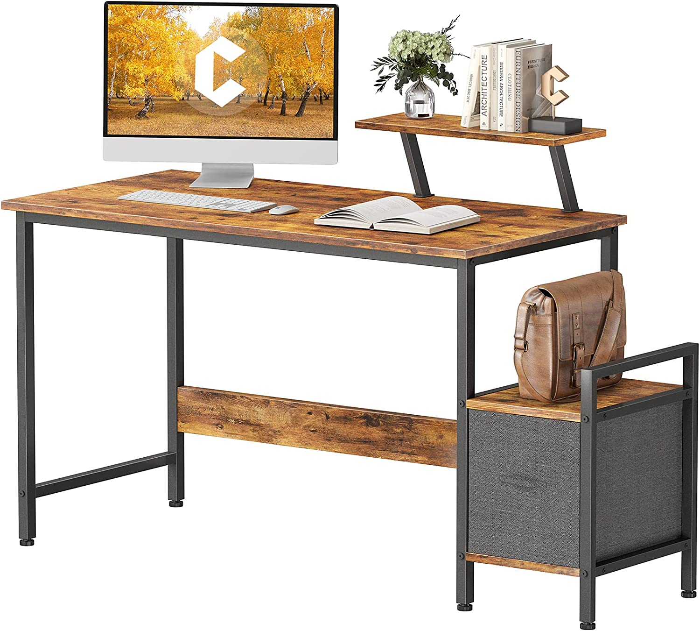 CubiCubi Small Computer Desk 47 Max 89% OFF Overseas parallel import regular item Office Home Multipurpose Wr Inch