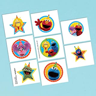 amscan Tattoo Favor, Sesame Street Collection, Party Accessory, Multicolor