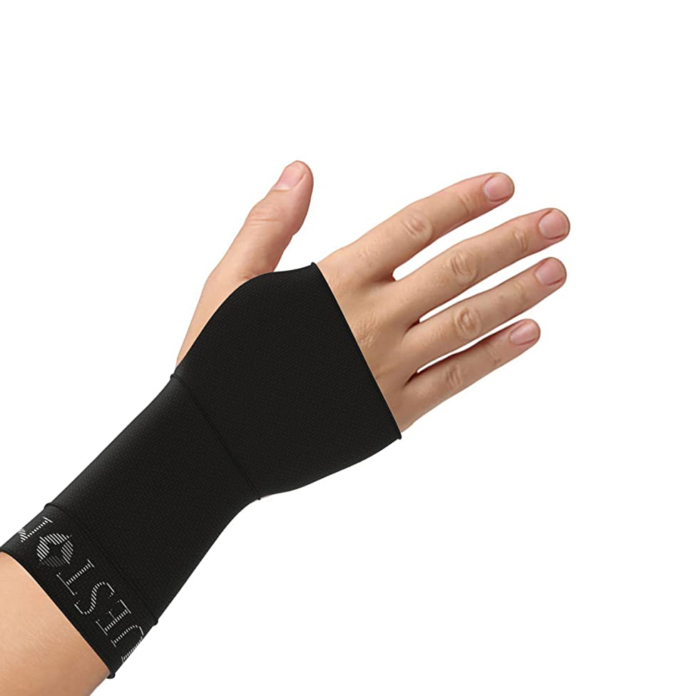 Bluestone Copper Infused Wrist Support Compression Sleeve- Unisex Compress with Anti-Microbial, Odor Control-For Yoga, Sports, Gym and More