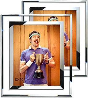 Simon's Shop 8x10 Picture Frame Glass Picture Frames 8x10 Wall and Tabletop Display Frame - 2 Pack