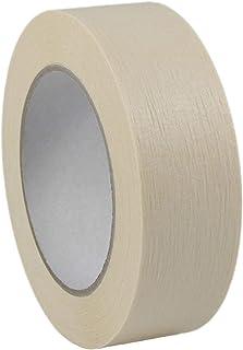 Kreppband Abdeckband | Profi Malerband Premium | 50 m, Breite wählbar | Beige | Kreppklebeband zum Abdecken und Abkleben | Ablösbar auf vielen Untergründen / 19 mm x 50 m