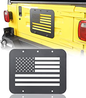 Hooke Road Jeep Wrangler TJ 97-06 Spare Tire Delete Plate, American Flag Tailgate Vent-Plate Cover