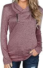 Romanstii Women's Sweatshirts Long Sleeve Pullover Casual Slim Fit Tunic Tops Lightweight Sporty Sweatshirts