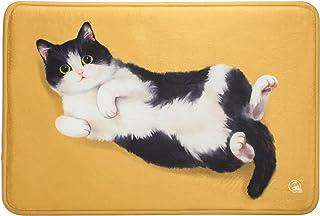 MEWJI felpudo doormats mantas alfombra original entrada casa dormitorio baño diseño de gato vívido antideslizante CowCat 40x60 cm