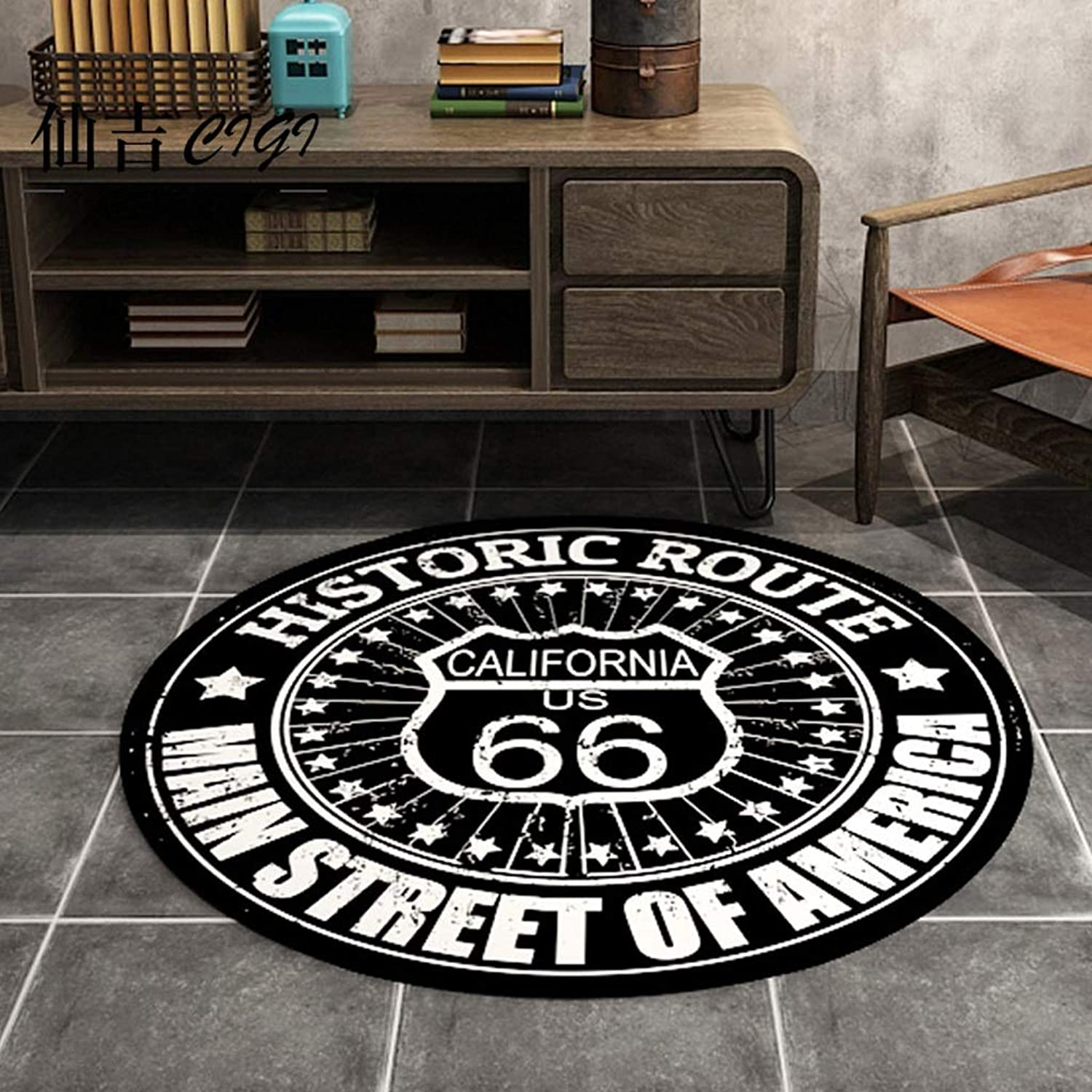 ASJHK Carpet Europe and America Modern Simple Round Carpet Living Room Coffee Table Bedroom Desk Computer Chair Personality Round Carpet Mat Carpet