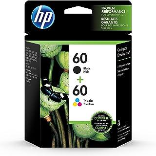 HP 60 | 2 Ink Cartridges | Black, Tri-color | For HP DeskJet D2500 Series, F2430, F4200 Series, F4400 Series, HP ENVY 100 ...