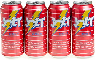 Jolt Cola Carbonated Energy Drink Original Recipe (Real Sugar) 16 Ounce, 4 Count