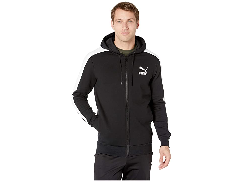 PUMA Classics T7 Logo Full Zip Hoodie Fleece (PUMA Black) Men