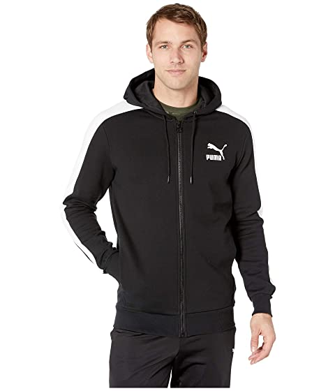 ad5e06e38e1c PUMA Classics T7 Logo Full Zip Hoodie Fleece at 6pm