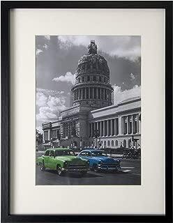 BD ART Black Picture Frame 12x16'' (30x40 cm) with Mat 8x12'' (21x30 cm - A4)