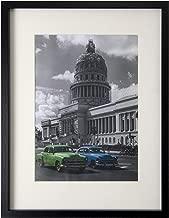 BD ART Picture Frame 12x16'' (30x40 cm) with Mat 8x12'' (21x30 cm - A4), Black
