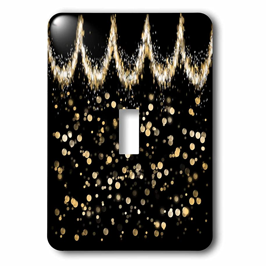 3dRose Anne Marie Baugh - Bling Glam - Image of Pretty Gold Splash Swag With Gold Bokeh - Light Switch Covers - single toggle switch (lsp_274030_1)