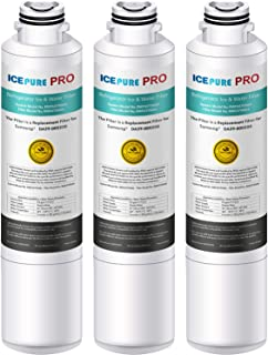 ICEPURE PRO NSF53&42 Certified DA29-00020B Replacement Refrigerator Water Filter, Compatible with Samsung DA29-00020B, DA29-00020A, HAF-CIN/EXP, HAF-CIN, DA97-08006A, Kenmore 469101,Advanced 3PACK